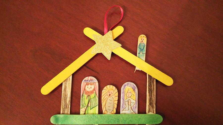 Presepe Con Bastoncini Di Legno : Presepe con bastoncini di legno natale fai da te idee per mini